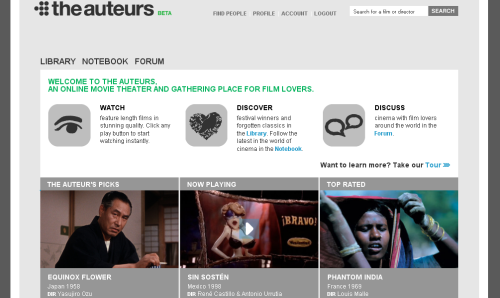 Screenshot - Website: The Auteurs
